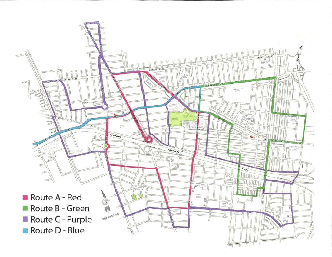 Lynwood Trolley Route Map