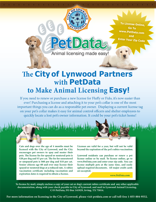 PET DATA FLYER