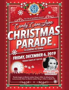The City of Lynwood's Annual Candy Cane Lane Christmas Parade is Coming to Town Friday December 6, 2019 - Parade starts at 7pm