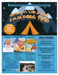 Enter to win a free camping trip