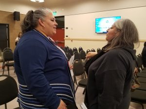 "Navidad De La Torre and Jackie Espinoza attended the ""On the Move"" Lynwood City Council meeting because it was close to their homes and they wanted to hear updates about their neighborhood."