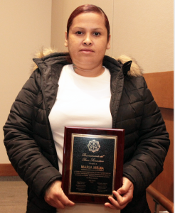 the Lynwood City Council recognized resident Maria Meija as a hero and good Samaritan