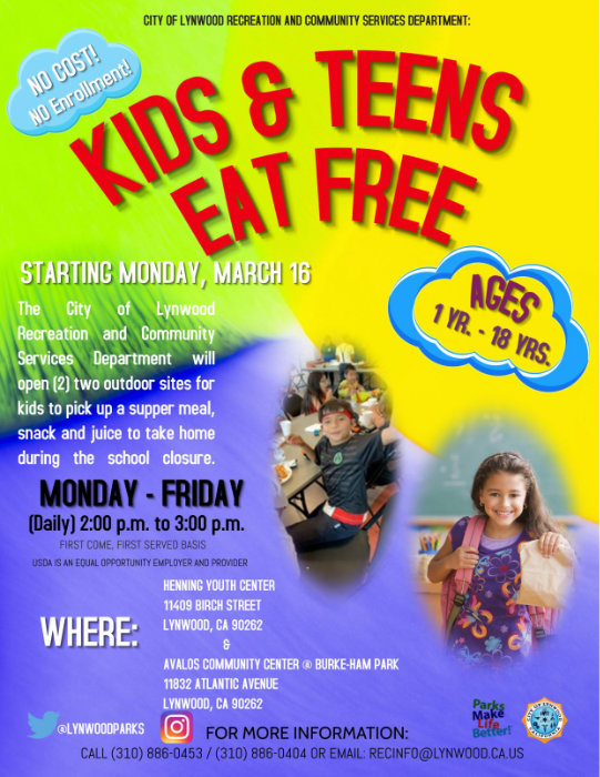 kids and teens eat free march 16