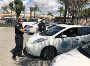 Code Enforcement Team practice social distance and safety precautions