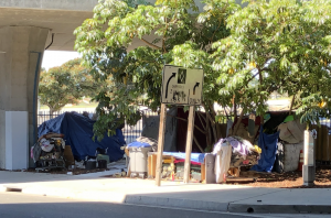 Homeless on Caltrans Property