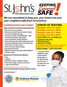 COVID-19 Testing in Lynwood Available in June