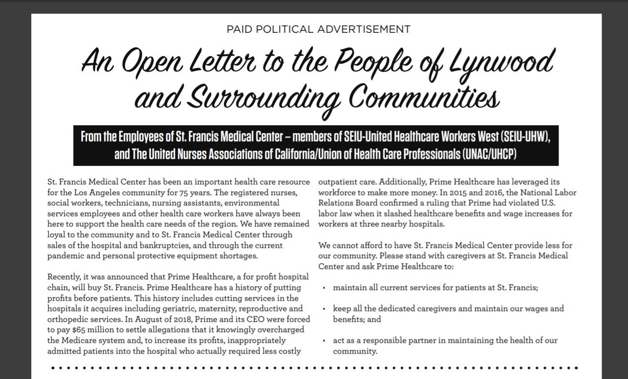 Open Letter to the People