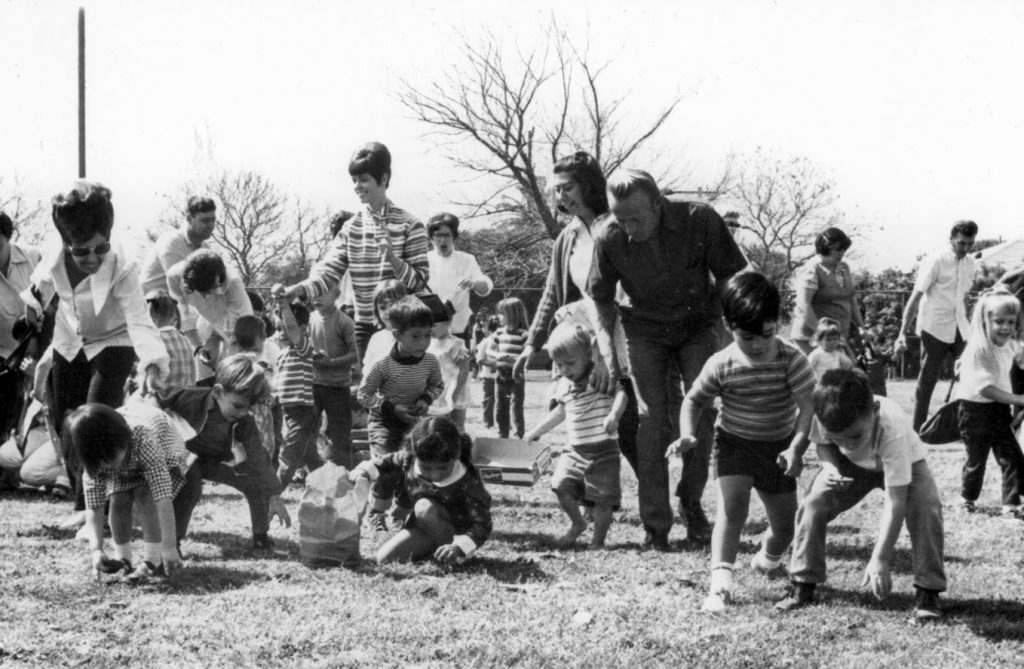 1969 Easter Egg Hunt
