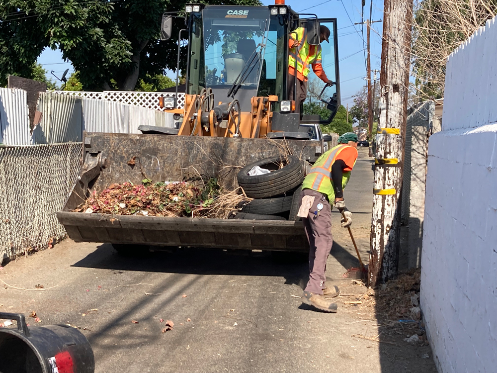 Public Works Alley Cleanup
